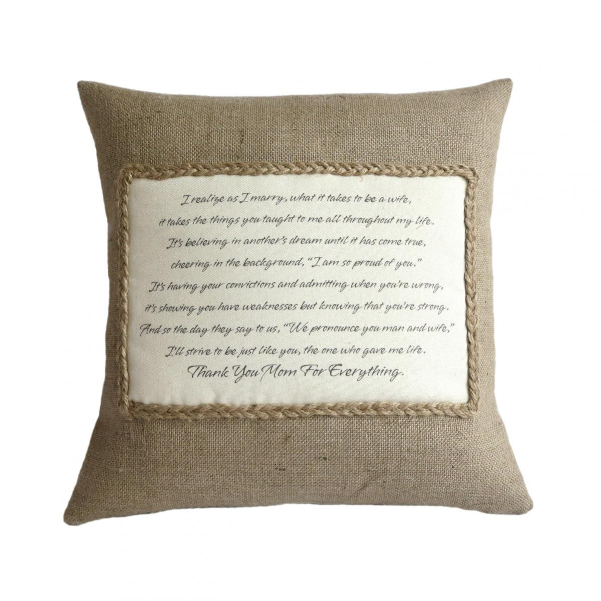 Personalised Poem Pillow Cover